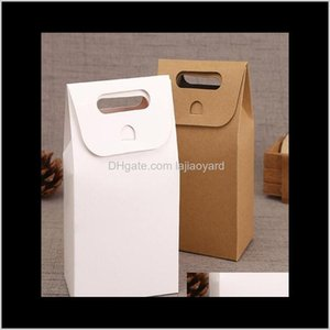 Wrap Wholesale Natural Kraft Paper Bags Party Sweets Cookie Candy Nuts Bag Diy Gift Packing Box High Quality Wmtwtl Hlfmi Odhwb
