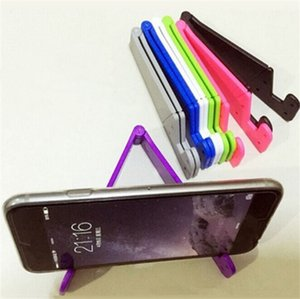 Cell Phone Holders V Shaped Universal Foldable Cellphone Mounts Portable Tablet PC Pad Holder Stand