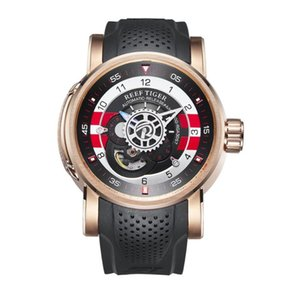 Men Sport Watch,mens Automatic Wrist Watches Reef Tiger Man Luxury Gold Waterproof Mechanical Wristwatch Erkek Kol Saati RGA703 Wristwatches