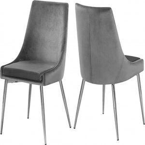 Modern Simple Living Room Furniture Durable Metal Lint Blue Black Gary Dining Chair for Home or Hotel restaurant