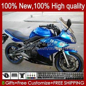 Обтекательный комплект для Kawasaki Ninja 650R ER 6 F 650 650 R New Body ER6 F ER6F 09 10 11 Blue Factory Body Workence 57HC.5 ER-6 F ER 6F 650-R 09-11 Coapling ER-6F 2009 2010 2011 OEM