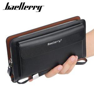 Baellerry erkekler cüzdan uzun stil yüksek kaliteli kart tutucu erkek çanta fermuar büyük kapasiteli marka pu deri cüzdan için