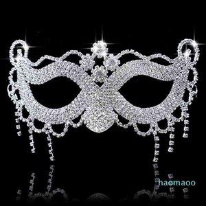 Hanzi_masks lusso Elegante Diamond Diamond Diamond Mask Sexy Hallowmas Venetian Bauta Mask Mezza faccia Party Dance Mask Masquerade Cosplay Decor