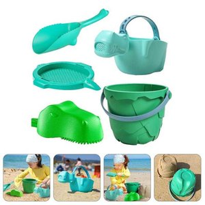 1 Set of 5pcs Beach Shovel Small Bucket Toy Kids Funny Sand Plaything