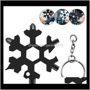 Screwdrivers Multi 18 In 1 Wrench Multitool Bottle Openers Key Ring Bike Fix Tool Snowflake Christmas Gift C1Jn2 Eou0D