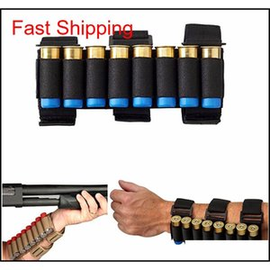 Waist Packs Backpacks Tactical Gear Airsoft Hunting Molle 8 Rounds Ga Sgun Shells Holder Shooting Arm Band 12 Gauge Ammo Cartridge Pou