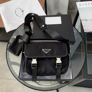 2021 Designers Mens Fashion Briefcases Crossbody Bags Nylon Messenger Bag Luxurys Purses High Quality Shoulder Purse with Triangle PP520347