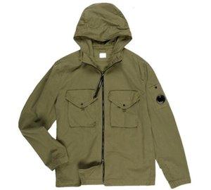 High Quality Metal nylon one glasses GOGGLE men jacket casual CP hoodies outdoor windbreak black army greensize M-XXL