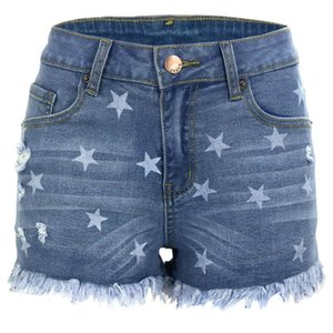 Women's Summer Denim Shorts Fashion Tassel Jeans Sexy Skinny High Waist Plus Size S-2XL Arrival