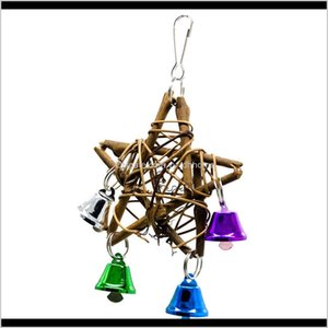 Other Supplies Bird Products Parrot Aw Rattan Star Vibrant Color Small Bells Toy Vlhsv 6Di9E