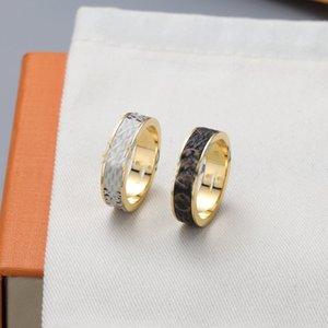 2021 high quality Rings trend retro titanium steel sticker letter versatile fashion men's and women's couple ring