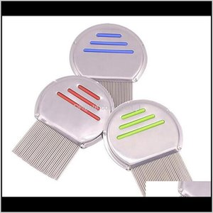 Grooming Cat Pet Supplies Home Garden Stainless Steel Kids Hair Terminator Lice Nit Rid Headlice Super Density Teeth Remove Nits Comb