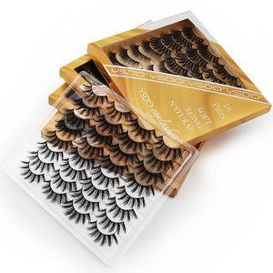 Wholesale 16pairs Mix Faux 3D Mink Eyelashes Natural Thick DIY Eyelash Extension Dramatic Messy Fluffy Soft Fake Lashes Cosmetic Makeup Tool