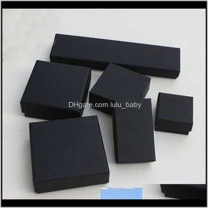 Packaging Display Drop Delivery 2021 Jewelry And Retail Boxes Black Kraft Packing Bracelet Necklace Ring & Ear Nail Box Christmas Year Gift C