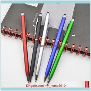 Pens Writing Supplies Office School Business & Industrialpink Gel Originality Metal Pen Touch Screen Tablet Smart Phone Capacitor Stylus Bla