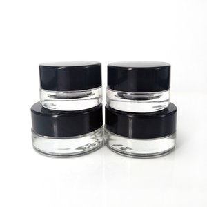Sample Tank Glass Containers for Wax Thick oil Box 3ml 5ml Cosmetic Jars Storage Oils Holder Vape Herb Cream Packaging Bottle