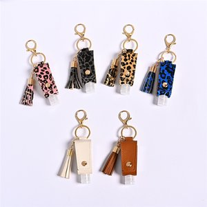 Function Charm Portable Hand Sanitizer Bottle Keychain Holder Cleanser Cosmetic Container Removable Travel Cover Set Gel Bottles