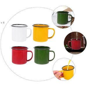 Mugs 4 Pcs Durable With Handles Small Vintage Enamel (Assorted Color RRE10639