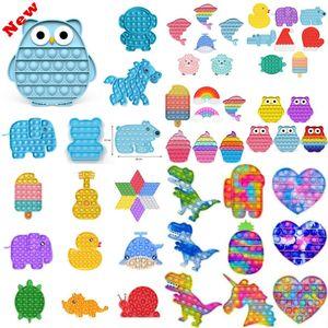 Fidget toys empuje la burbuja antiestresa juguetes antiestrés suave sensorial regalo reutilizable squeeze toys regalos esfuerzos de estrés anhelan juego DHL