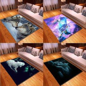 Carpets Animal Wolf Pattern Anime Floor Mat Vortex Rug Rugs For Bedroom Kitchen Outdoor Carpet Living Room