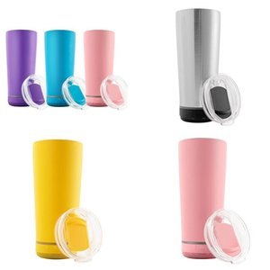 11 Colors 18oz Bluetooth Speaker Wine Tumbler Music Cup Smart Stainless Steel Waterproof Wireless Bottle Outdoor