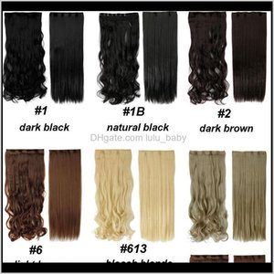 1828 Long Clip In Extensions Synthetic 100 Real Natural Extentions 34 Full Head 1 Piece Black Brown L9Otq Pieces Zaox9