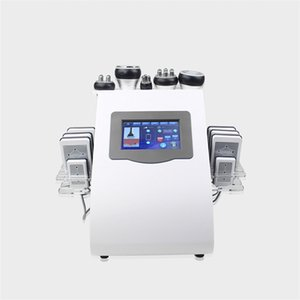6 in 1 ultrasonic 40k cavitation body slimming lipo laser liposuction vacuum rf skin tightening shaping machine