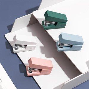 Morandi Mini Stapler With Box And Nail Set Student Portable Test Paper Binding Device