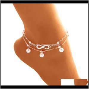 Bohemian Elegant Womens Imitation Pearl Anklet Foot Bracelet Barefoot Sandals Chain Strap Beach Accessories Jewelry For Women Kc9W2 Qzfb7