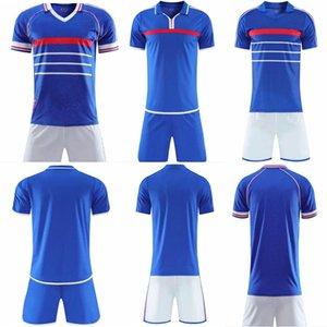 1984 1998 2000 Retro version FRANCE soccer jersey ZIDANE HENRY MAILLOT DE FOOT Home Trezeguetman kids kit football shirt uniform