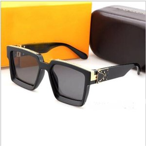70% DE DESCUENTO DE LA TIENDA EN LÍNEA DE MARCA DE LA MARCA DE LA MARCA Gafas de sol retro de los hombres Gafas de lujo Conexión cuadrada Masculina Gafas negras Contiene caja