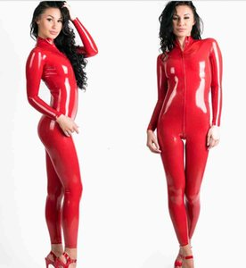 M-6XL Plus Size Lingerie Wetlook PVC Latex Bodysuit Women Zipper Leotard Catsuit Hot Sexy Clubwear Jumpsuit
