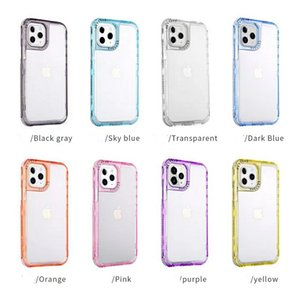 Transparent Cases Fashion Cover Colorful PC Frame Soft TPU Clear Back 3in1 With Airbags For iphone12 12Mini 12PRO 12PROMAX 11 11pro 11promax X XSMAX SE 8 7 8P