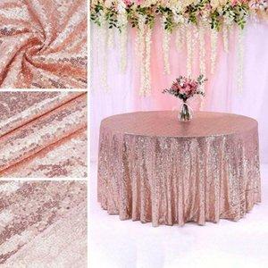 Table Cloth 120cm*150cm Simple Tablecloth El Restaurant Wedding Decoration Pure Color Sequin Square Gold Sequined Tablecloths