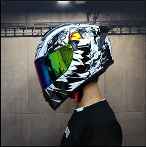Dakar Rally motorcycle helmet racing sports car personality cool cover summer men and women four seasons locomotive anti-colorful double mir