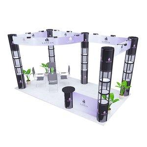 20ft * 10ft Modüler Sergi Booth Reklam Ekranı Özel Grafik Baskı ile