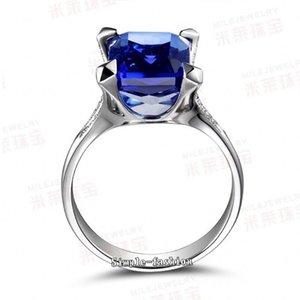 Victoria Wieck Luxury Jewelry Handmade Men Prong Set 6ct Sapphire Cz Diamond 925 Sterling silver lz1245
