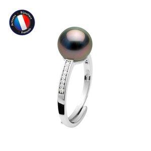PERLINEA Tahitian Cultured Pearls Round Ring Diameter 89 mm Woman Jewel Silver 925 Milli mes#01