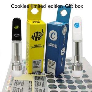 Cookies 0.8ml 1.0ml Ceramic Carts Glass Atomizer limited edition Gift Box Vape Cartridge Packaging 510 Empty Disposbale Vaporizer pen