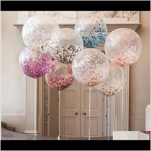 Decoration 36 Inch Confetti Giant Clear Latex Wedding Decorations Birthday Party Baby Shower Supply Air Balloons R3Zn3 Nkcru