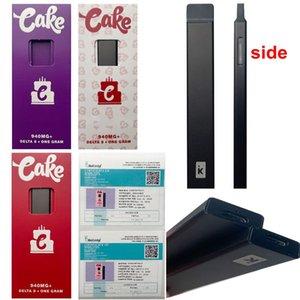 Cake Delta 8 Empty Disposable Device Pods 1ml Pod E Cigarettes Starter Kits 10 Strains Thick Oil Vape Pens Puff Bars Cartridges