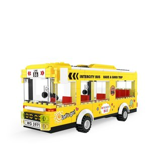 The City Of Classic Building And Bus Double Decker Games Tourism Vehicle Assembly Model Educational Toys For Children Gift With Original Box