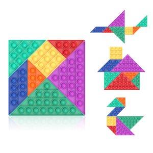 Push bubble decompression toy tangram splicing children's desktop Unpack the device fidgety
