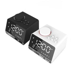 Bluetooth-динамик светодиодный экран Snooze Digital FM-радио Таблица будильник USB заряда 1.1A + 2.1A TF Player для портативных динамиков Android