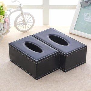 Leather Box Minimalist Napkin Holder Car Tissue Box Holder For Car Tissue Napkin Pudelko Na Chusteczki Home Decor BE50ZJH