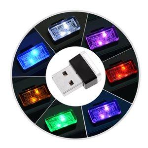 7 Colors LED Car Light Mini USB Modeling Ambient Decorative Lamp decoration Accessories