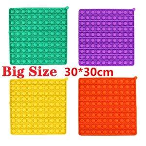 US STOCK Party Favor BIG SIZE 30*30cm Colorful Push Fidget Bubble Sensory Squishy Stress Reliever Autism Needs Anti-stress Rainbow Adult Toys