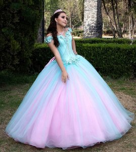 2021 Plus Size Sexy Lace Beaded Quinceanera Dresses Sweetheart Bow Elegant Tulle Pageant Evening Prom Gowns ZJ475