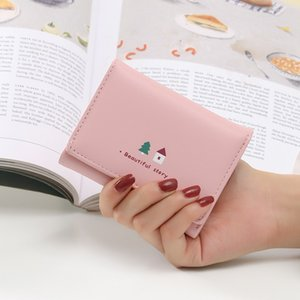 Small Fashion Brand Leather Ladies Card Bag Clutch Women Female Purse Money Clip Wallets 304