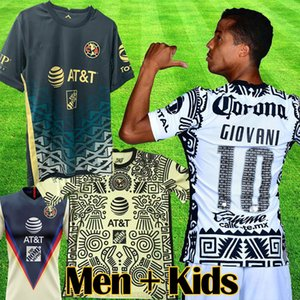 2021 Liga MX Club America portero terceras camisetas de fútbol 20 21 GIOVANI CASTILLO OCHOA America 3a camiseta de fútbol kit goalie Camiseta de Futbol hombres conjuntos para niño